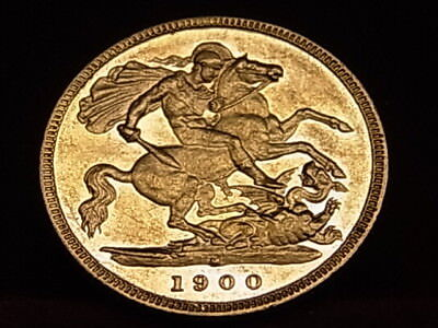 Australia.  1900 Melbourne - Half Sovereign..  Much Lustre..  aEF/gEF