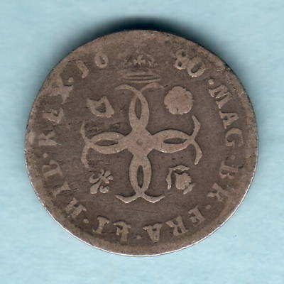 Great Britain. 1680 Charles 11 - Fourpence..  VG/aF
