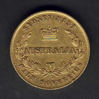 Australia. 1858 Sydney Mint - 1/2 Sovereign.. Trace Lustre - gVF..  Very SCARCE