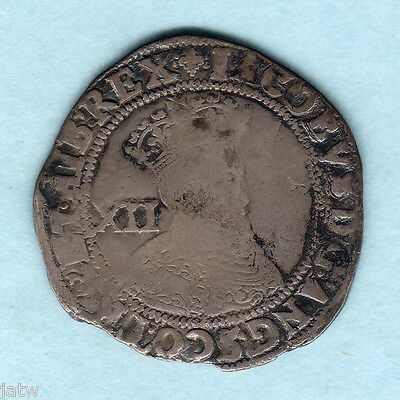 Great Britain. 1603-04 James 1 - Shilling..  MM-Lis.. 1st Coinage..  F/F+