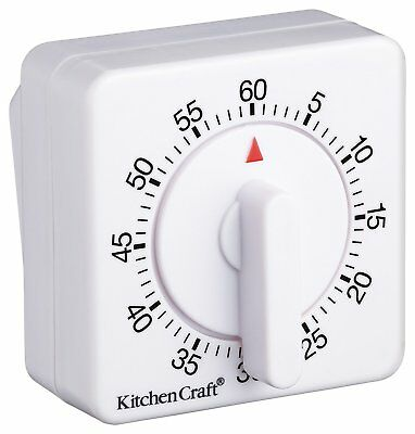KitchenCraft Wind-Up Mechanical 1-Hour Kitchen Timer