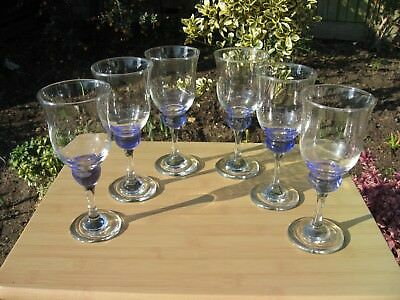 6 WINE GLASSES TO MATCH DENBY IMPERIAL BLUE - 2nd set