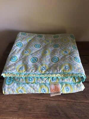 Great 100% Cotton Cover - Like New Lolli Living Comforter Green #SundayMarket