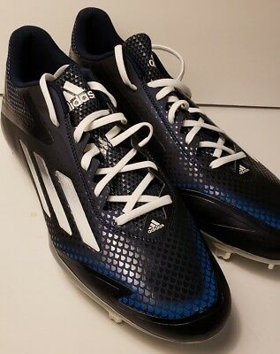 newest 09ded 228ea New Adidas Adizero Afterburner 2.0 Low Metal Mens Baseball Cleats Navy  S84704 12