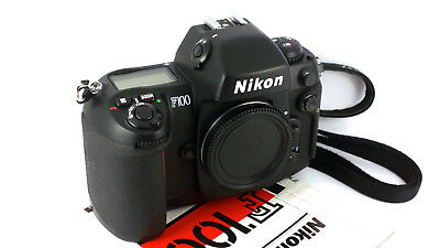 Nikon F100 AF Pro. Choice SLR Body+ AN-4B Strap, Manual & Cap. 'MINT-' Condition
