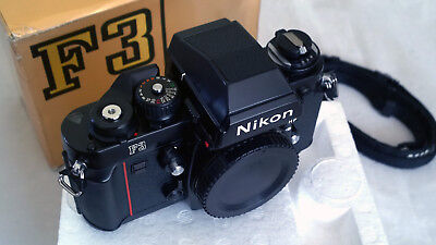 Nikon 'F3HP' Professional Body+ Type K Screen, Strap & Cap. 'EXCELLENT+++' BOXED