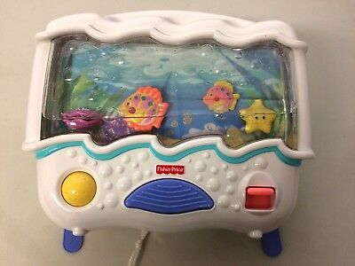 Fisher Price Crib Toy Ocean Wonders Aquarium Baby Crib Soother Night Light Music