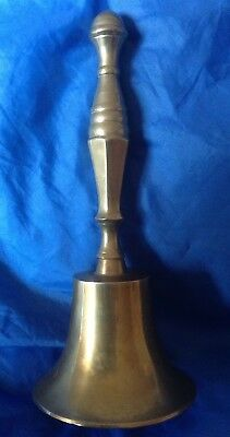Large vintage antique old bronze hand bell - Wicca, Pagan Altar Bell