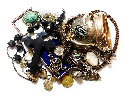 Large Varied Collection Of Old Jewellery Bangles Box Bits Joblot (C13)