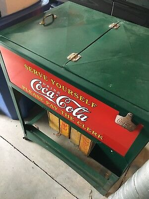 Coca-Cola 1920's Glascock Cooler Restored to like-original excellent condition