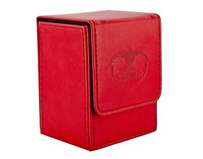 """Ultimate Guard UGD10148 """"Flip Deck Case Leather. 80+ Rot"""" Card Game red"""