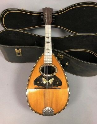 Antique Likely  Fratelli Vinaccia Napoli Bowl Back Lute,Mandolin,Italian Guitar