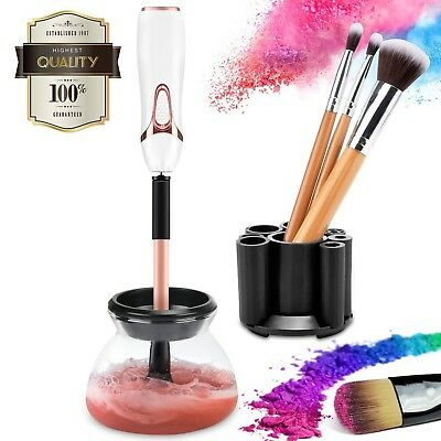 Makeup Brush Cleaner kit, cute electric cosmetic artist Device with Completel...