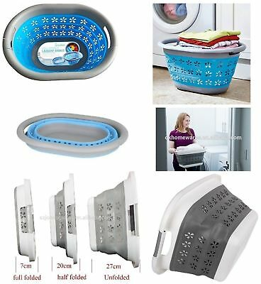 Collapsible Laundry Basket Hamper Clothes Storage Washing Line Foldable Bin Dry