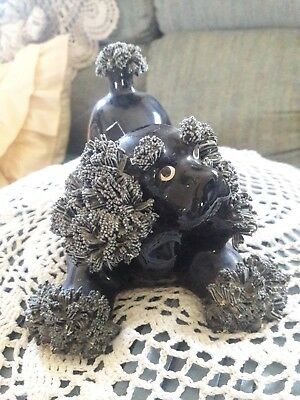 "Black Puppy spaghetti poodle specialty made in japan 3 1/4""x4 3/4""x7""L"