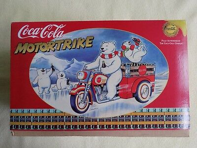 A++ Coca-Cola Tin Polar Bear Wind-Up Motortrike Franklin Mint Coca Cola Coke