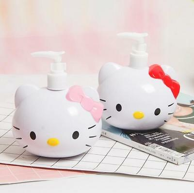 Hello Kitty Squeeze Hand Press Bottle Sanitizer Shampoo Shower Gel Bottle 250ML