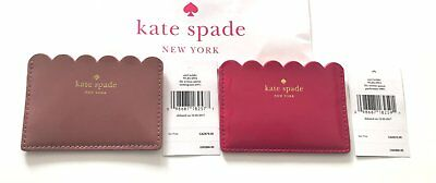 Kate Spade Patent Scalloped Lily Avenue Card Holder U Choose Color $68 Nwt
