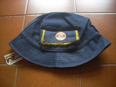 Deadstock Usa 80 Rare Official Fisherman Bucket Hat Jeans Canvas Vtg Bnwt