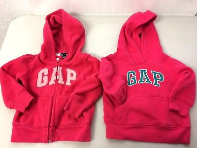 Baby Gap Baby Girls Sweat Shirts Size 12-18 Months 18-24 Months Pink Hooded
