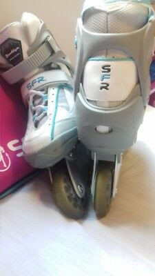 SFR Adult Inline Skates size 6 with free brand new skate bag! Like New!!!