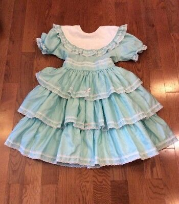 Vintage Martha's Miniatures We're Fussy Girls Size 14 Ruffle & Lace Party Dress