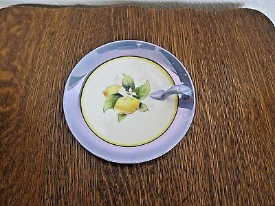 "NORITAKE MORIMURA HANDPAINTED LEMON SERVER 5 1/2"" NAPPY w/LUSTER"