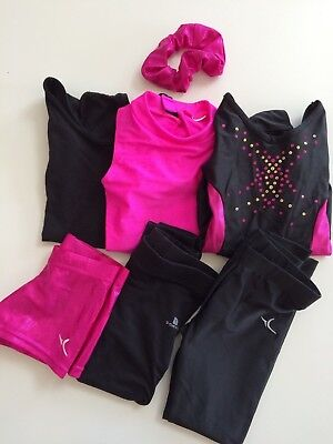 Girl's Gymnastics Dance Clothes Lot Size XS 4/5 years