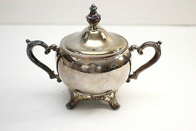 Vintage WM Rogers Victorian Silver Plated Creamer Sugar Bowl With Lid