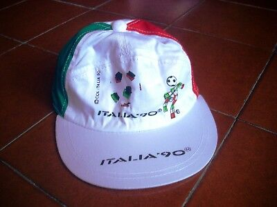 Deadstock Italy 90 Official Football Fan Hat Cotton Casuals Germany 80 World Cup