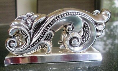 Silver scroll design Brighton Business Card Holder