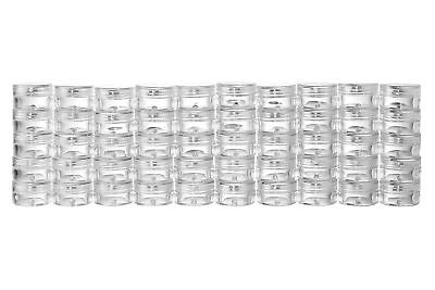 Juvale 50 New Empty Clear 5 Gram Plastic Pot Jars Cosmetic Containers With Lids
