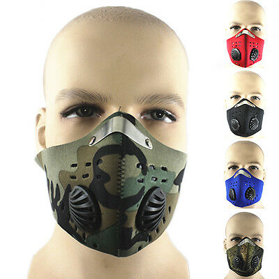 Anti Dust Motorcycle Bicycle Cycling Ski Half Face Mask Filter CJX
