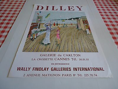 Affiche Lithographiee Du Peintre Ramon Dilley.annees 80.wally Findlay Cannes