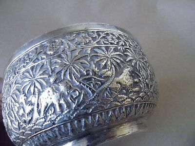 Excellent Antique Indian Solid Silver Animals/ Elephant Bowl