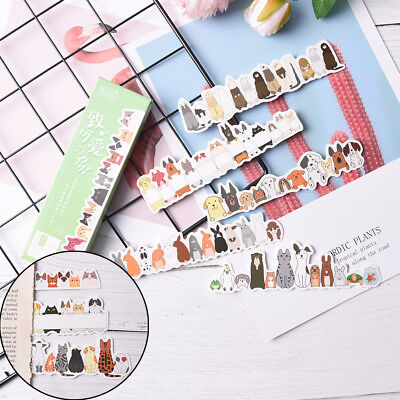 30Pcs/pack Kawaii Cat Paper Bookmark Stationery for Book Holder Message C JX