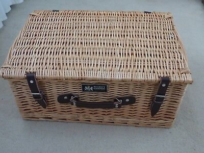 Large wicker hamper basket