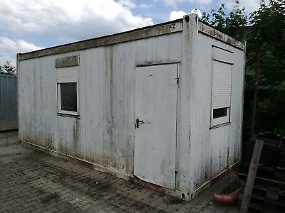 Bürocontainer - Wohncontainer - Lagercontainer - Werkstattcontainer 2,5m x 6m,