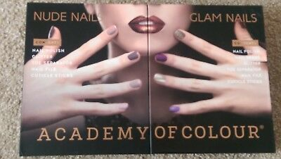 Academy of colour - nude and glam nail sets