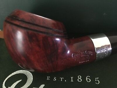 Pipe, pipa,pfeife, estate Peterson Rhodesian 999 bent Red smooth Sterling Silver