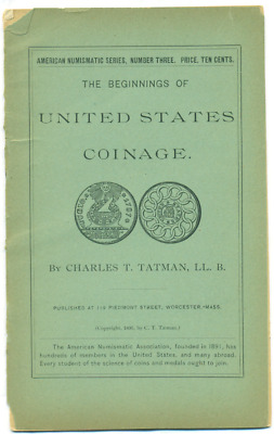 1895 Ana Series The Beginnings Of U.s. Coinage #3 By Charles Tatman
