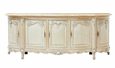 Impressive 19Th Century Carved Oak Marble Top Sideboard