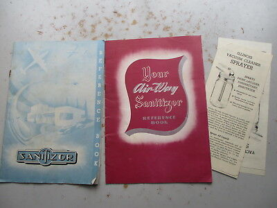 TWO Ca. 1940s Air-Way Sanitizor Vacuum Cleaners Owners & Promo Booklets