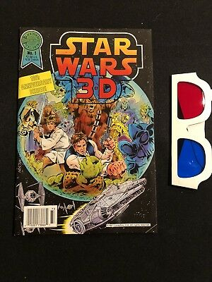 RARE Star Wars 3-D 10th Anniversary Series Blackthorne No. 1 WITH 3-D Glasses