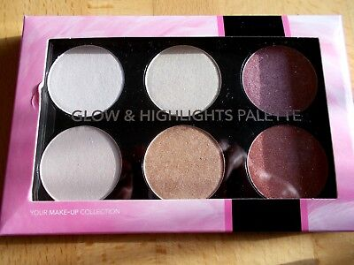 Make up Contouring, Clow & Highlights Palette > 6 versch. Nuancen / Puder * NEU