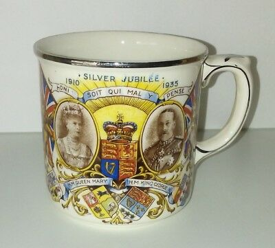 Queen Mary King George ./ Royal Family / Cup / Mug / Silver Jubilee / 1935