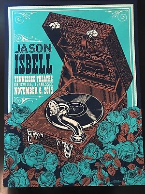 JASON ISBELL Print Poster Knoxville TN 11/6/2015 Tennessee Theatre Ltd Numbered
