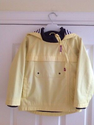 Boys Yellow Raincoat Fishermans Jacket by M&S Age 4-5 Years