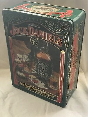 Vintage Jack Daniels Tennessee Whiskey No. 7 Tin Box by Barringer Wallis England
