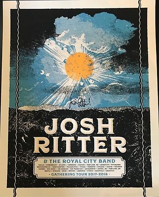 Josh Ritter Tour Poster SIGNED AUTOGRAPHED 2018 Limited